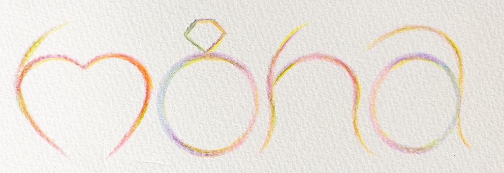 ベビーリングmona手書きロゴ